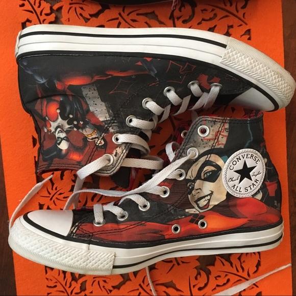 1ab83ba3e05aec Converse Shoes - Harley Quinn Converse size 8